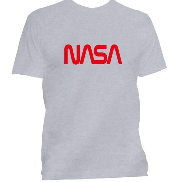 85295c6a Shirts   Nasa Worm Logo Space Administration Grey T Shirt   Poshmark